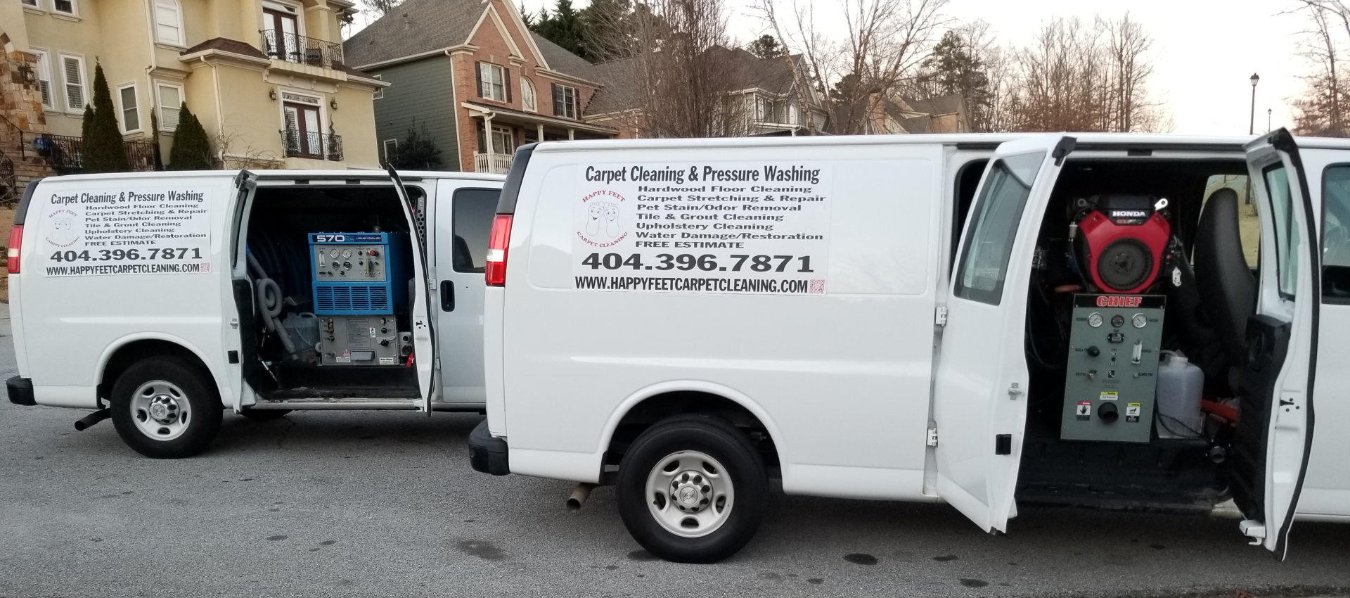 Van of housekkeeping cleaning