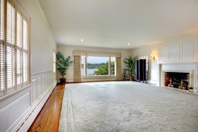 house interior view with rug carpet